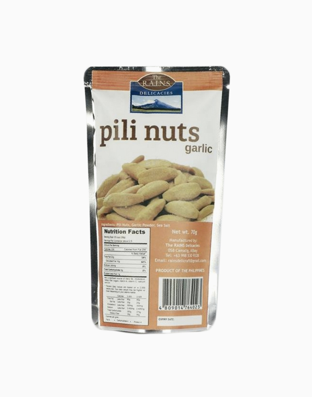 Garlic Pili Nuts by Rains Delicacies