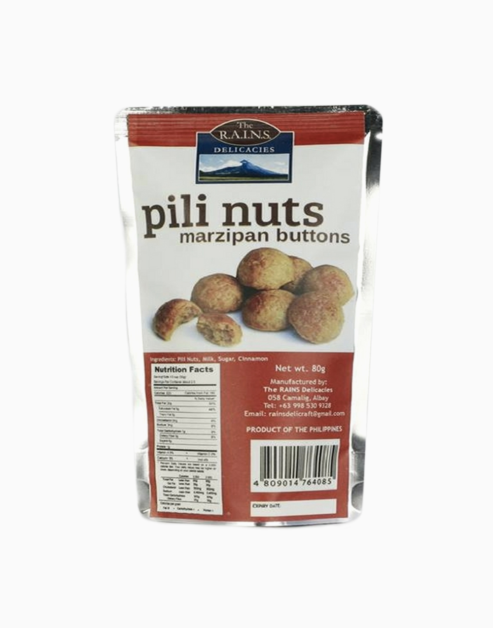 Marzipan Buttons Pili Nuts by Rains Delicacies