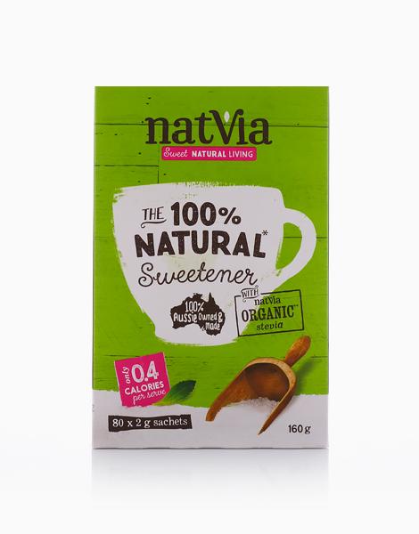 Natvia Organics Stevia 80 Stick Pack (2g) by Natvia Organic Stevia