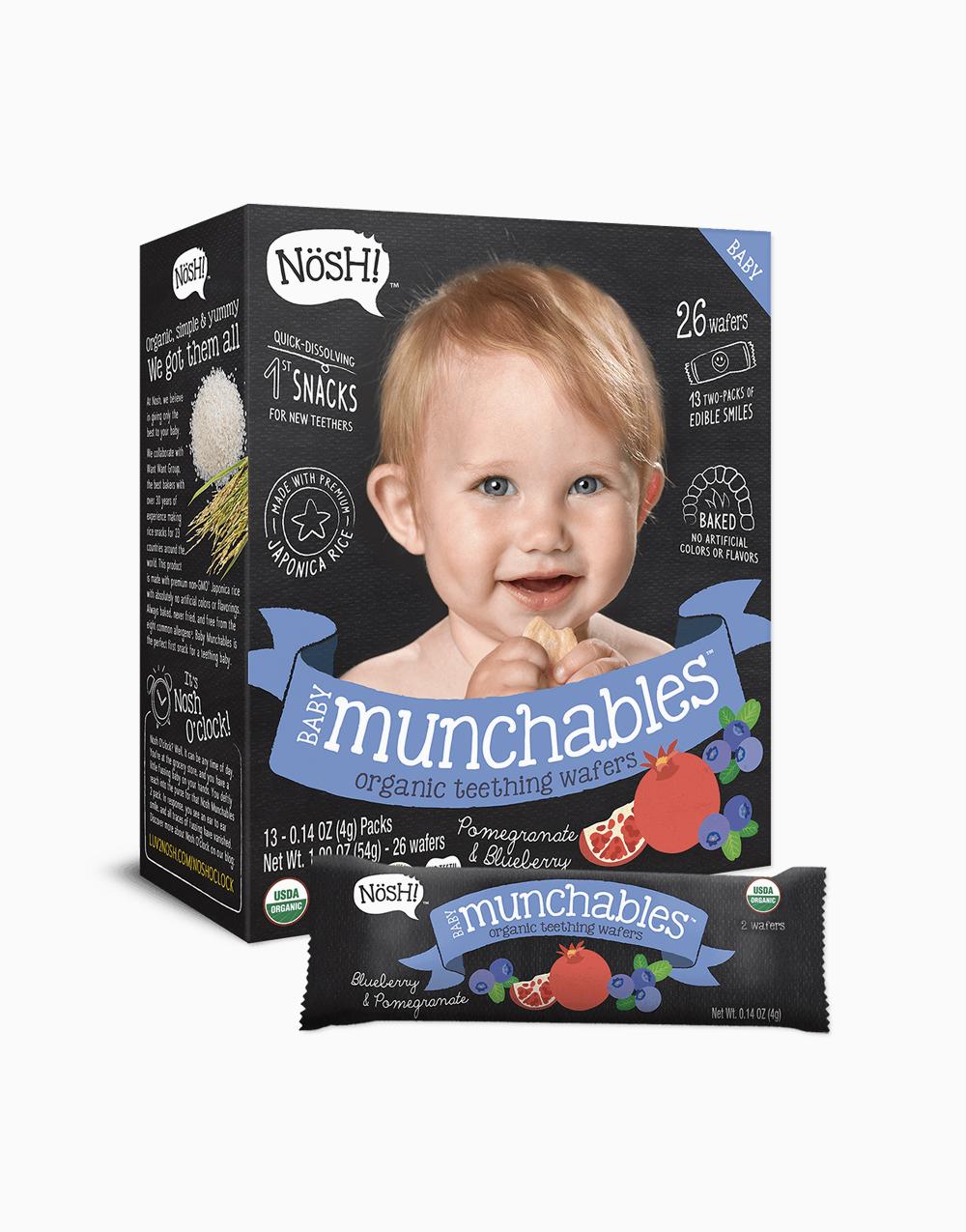 Blueberry Pomegranate Organic Vegan Baby Munchables by Nosh!