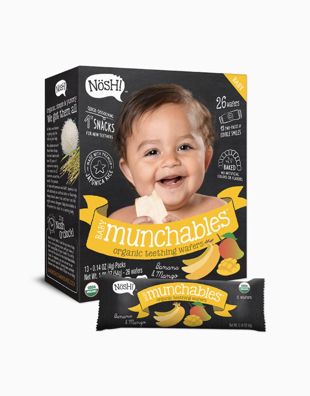 Banana Mango Organic Vegan Baby Munchables by Nosh!