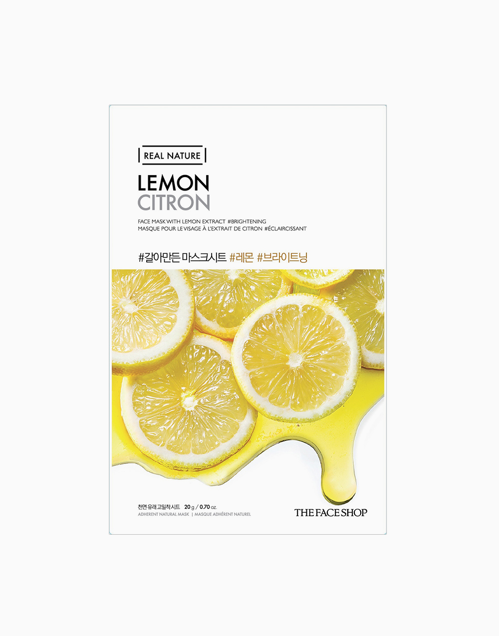 Real Nature Lemon Face Mask by The Face Shop