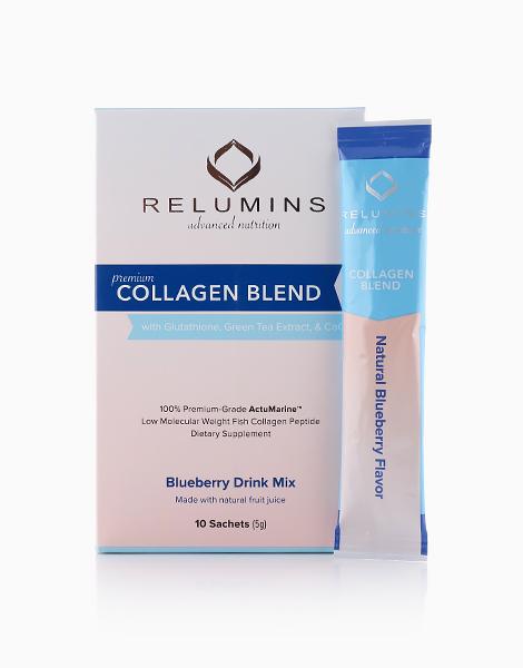 NEW Relumins Premium Collagen Blend (10 Sachets) by Relumins | Blueberry