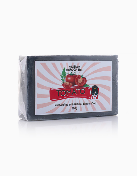 Tomato With Bamboo Charcoal Soap by Diva White