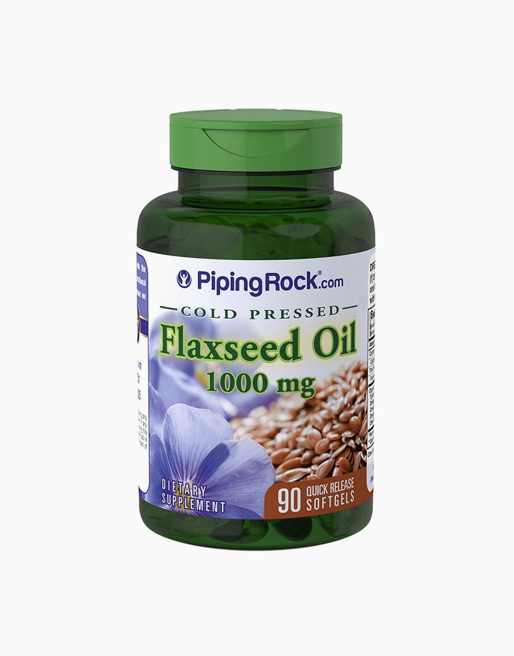 Flaxseed Oil 1000mg (90 Softgels) by Piping Rock