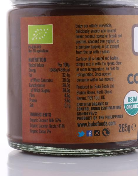Buko Organic Chocolate Coconut Spread (265g) by Buko Foods