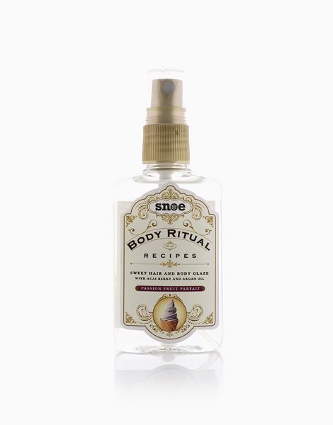 Body Ritual Recipes Sweet Hair & Body Glaze by Snoe Beauty | Passion Fruit Parfait
