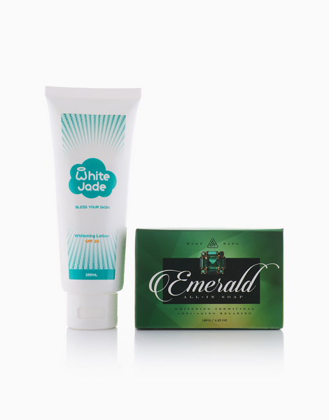 Emerald All-In Soap with White Jade Lotion by MontSapo