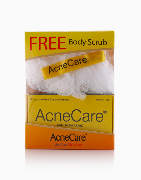 AcneCare Soap with FREE Loofah (Body Scrub) by Acne Care