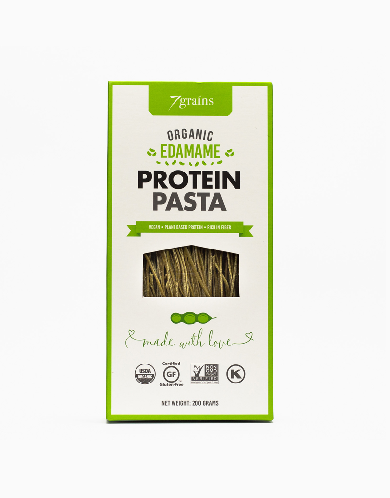 Organic Edamame Protein Pasta by 7Grains Company
